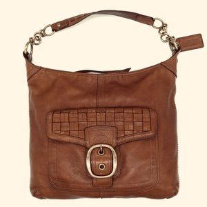Coach Legacy Woven Pocket Hobo Shoulder Bag
